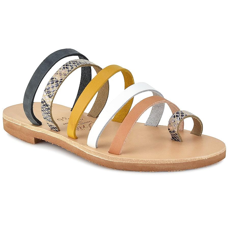 Δερμάτινη πολύχρωμη σαγιονάρα Iris Sandals IR5/5