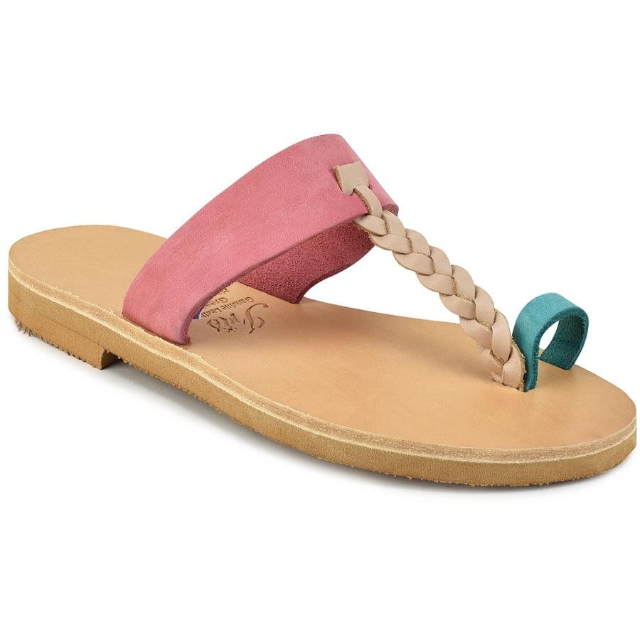 Δερμάτινη πολύχρωμη σαγιονάρα Iris Sandals IR51-2