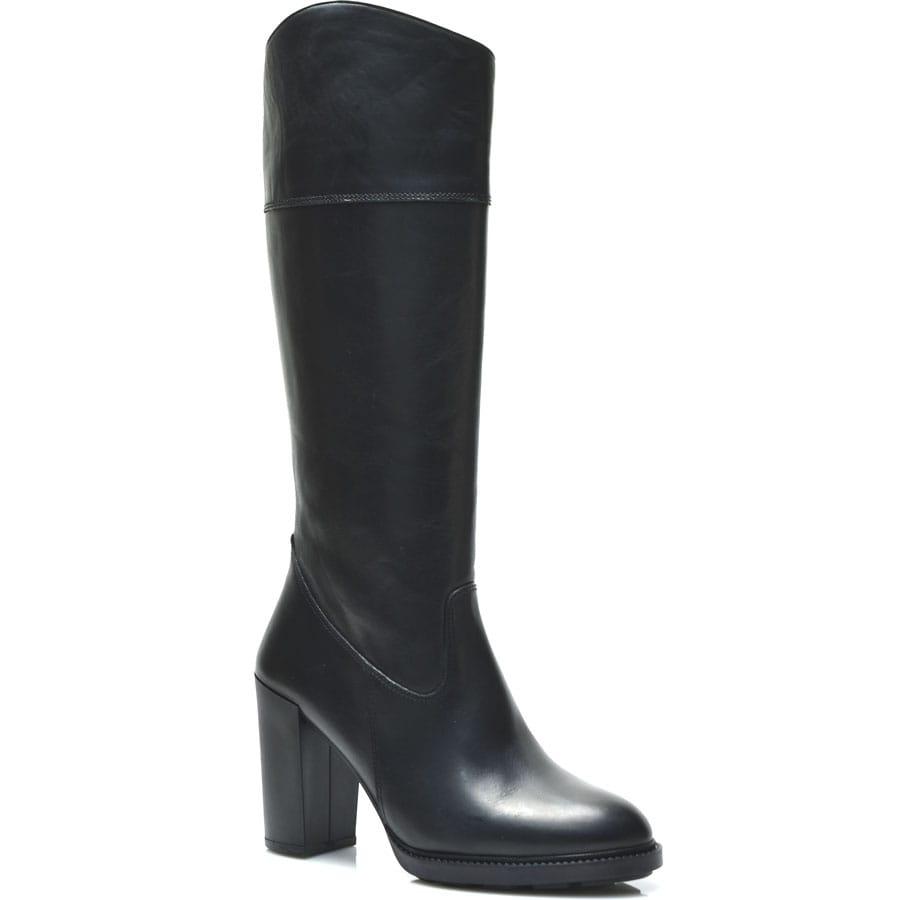 Δερμάτινη μαύρη μπότα Fratelli Robinson 5606