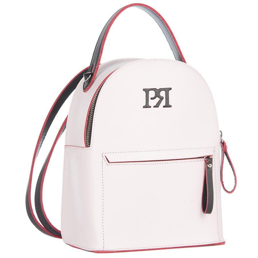 01d21fb78 Λευκό eco-leather σακίδιο πλάτης Pierro Accessories 90551EC0.