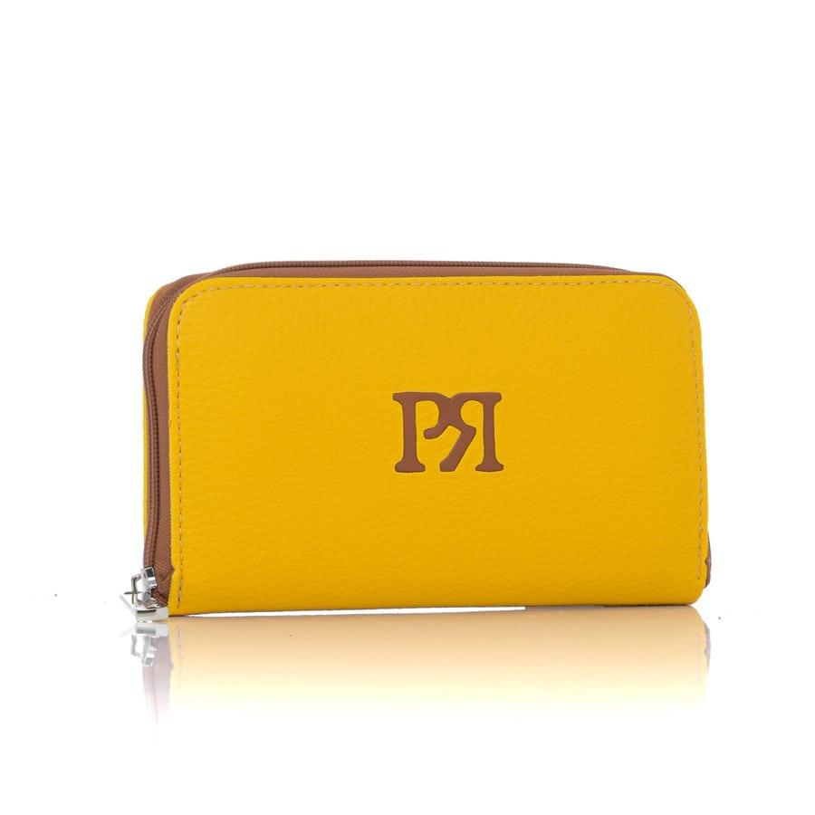 Κίτρινο eco-leather πορτοφόλι Pierro Accessories 00022