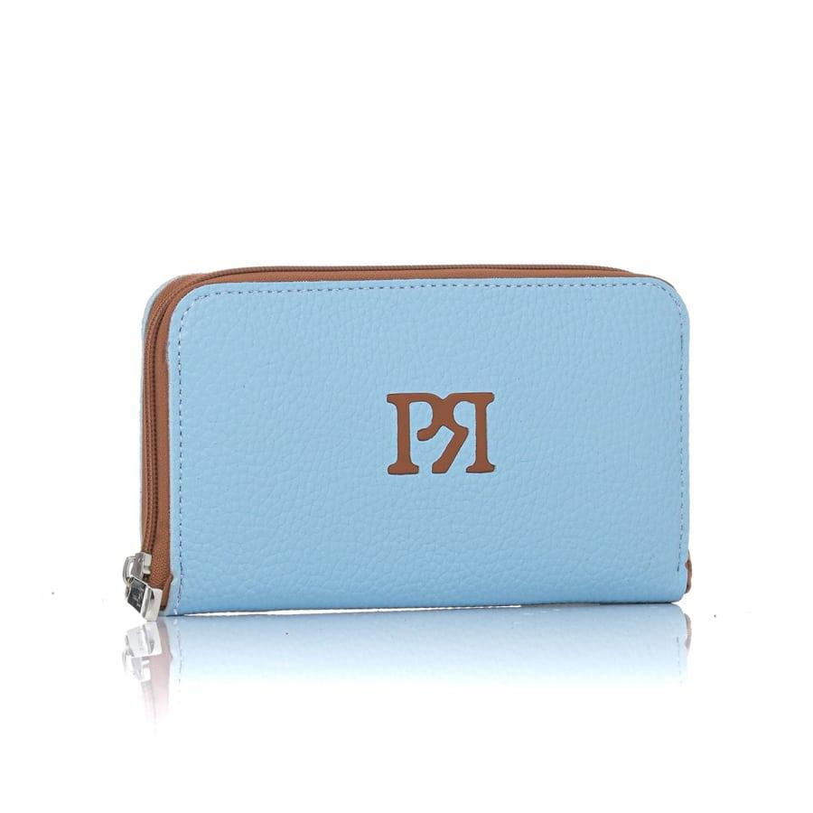 Γαλάζιο eco-leather πορτοφόλι Pierro Accessories 00022