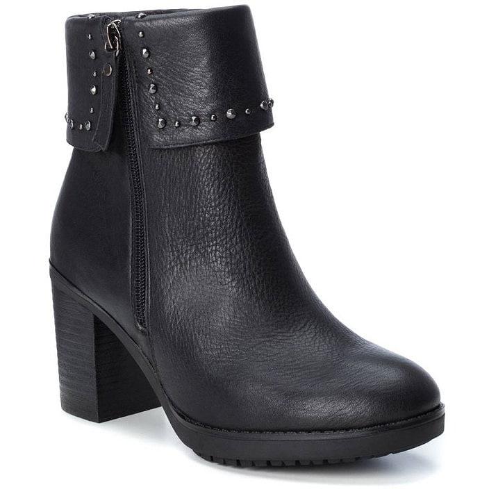 Δερμάτινο μαύρο biker boot Carmela 66987