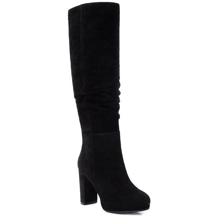 Δερμάτινη μαύρη μπότα Carmela 67077