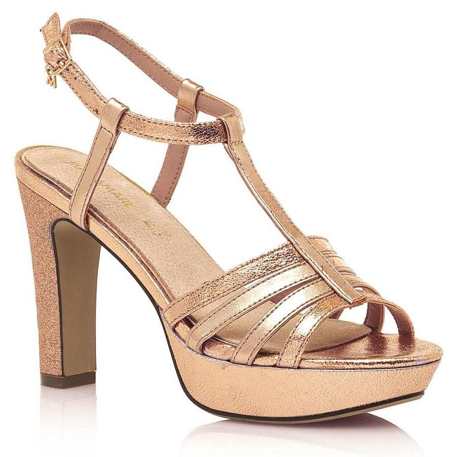 Ροζ χρυσό πέδιλο MariaMare 67714