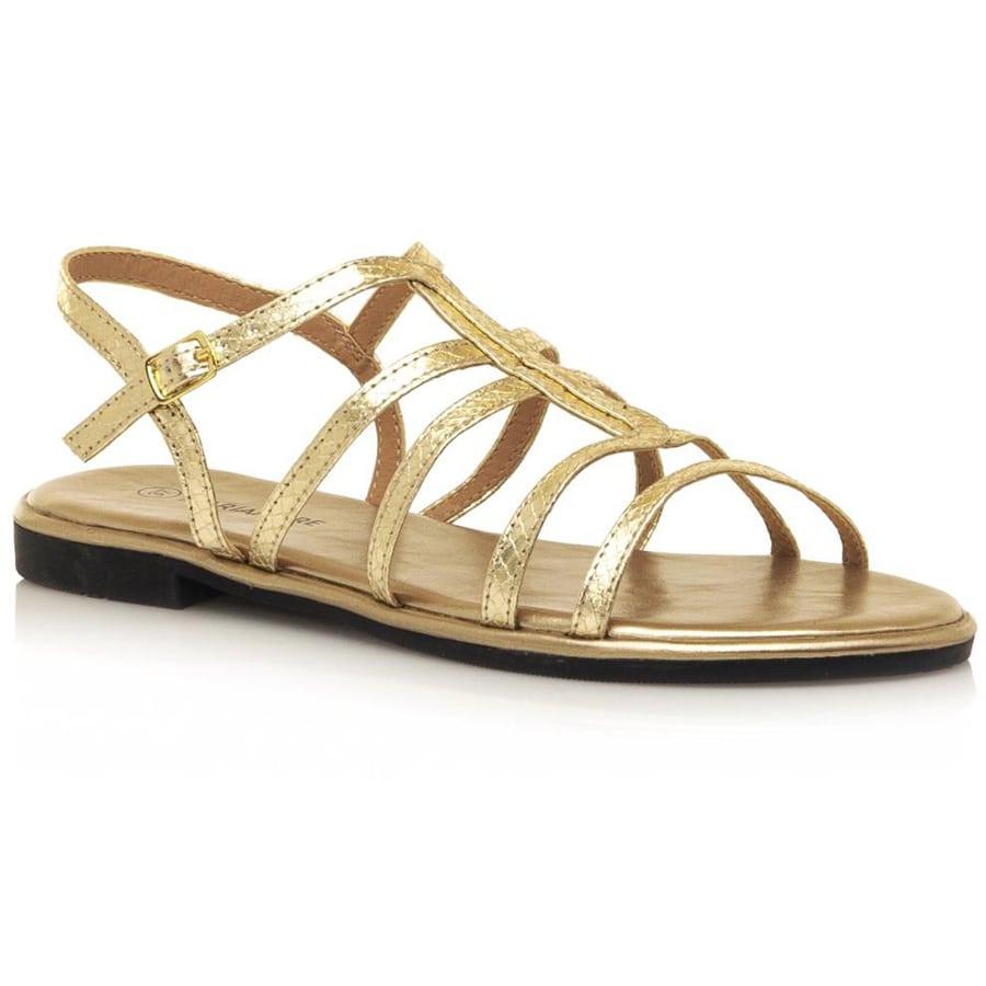Χρυσό σανδάλι MariaMare 67746