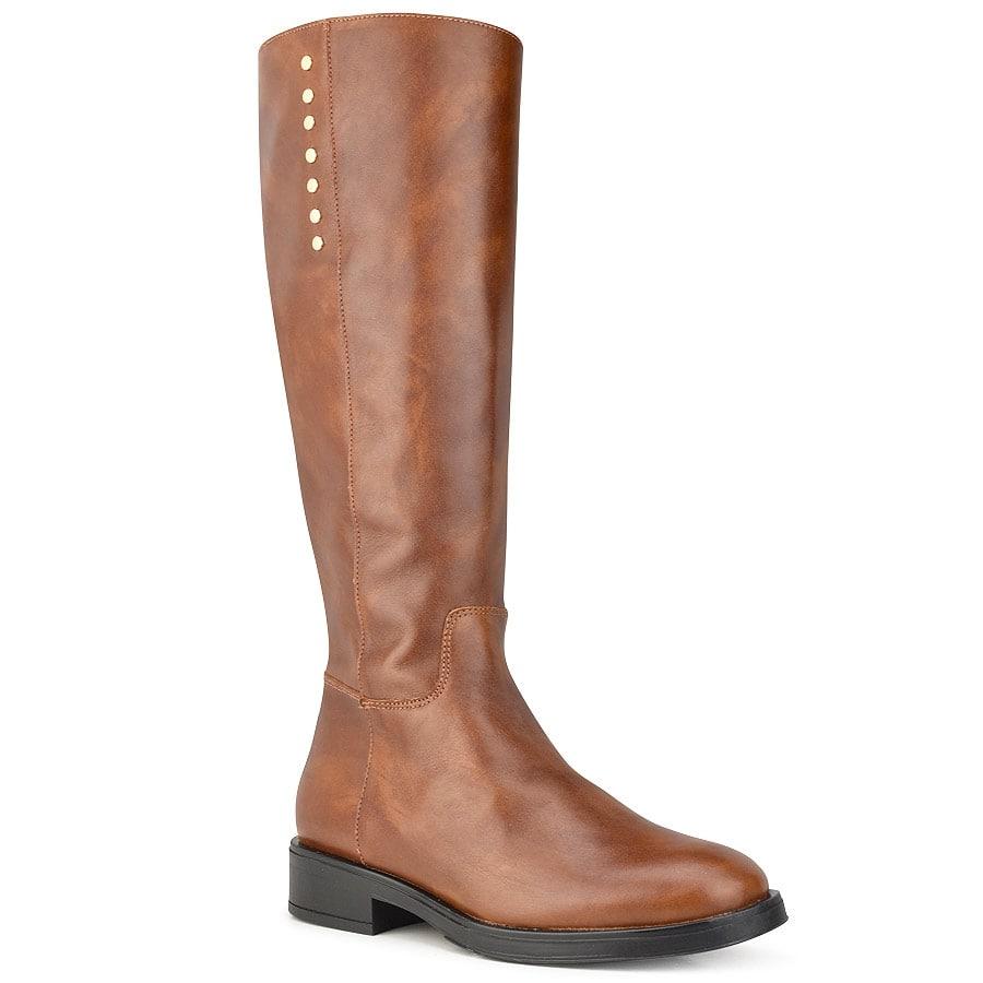 Δερμάτινη ταμπά μπότα D chicas 6826