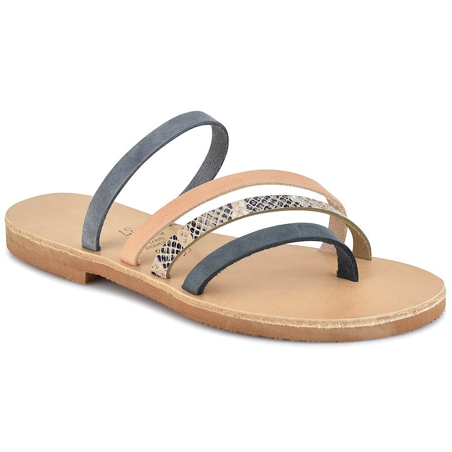 Δερμάτινη πολύχρωμη σαγιονάρα Iris Sandals IR7/2