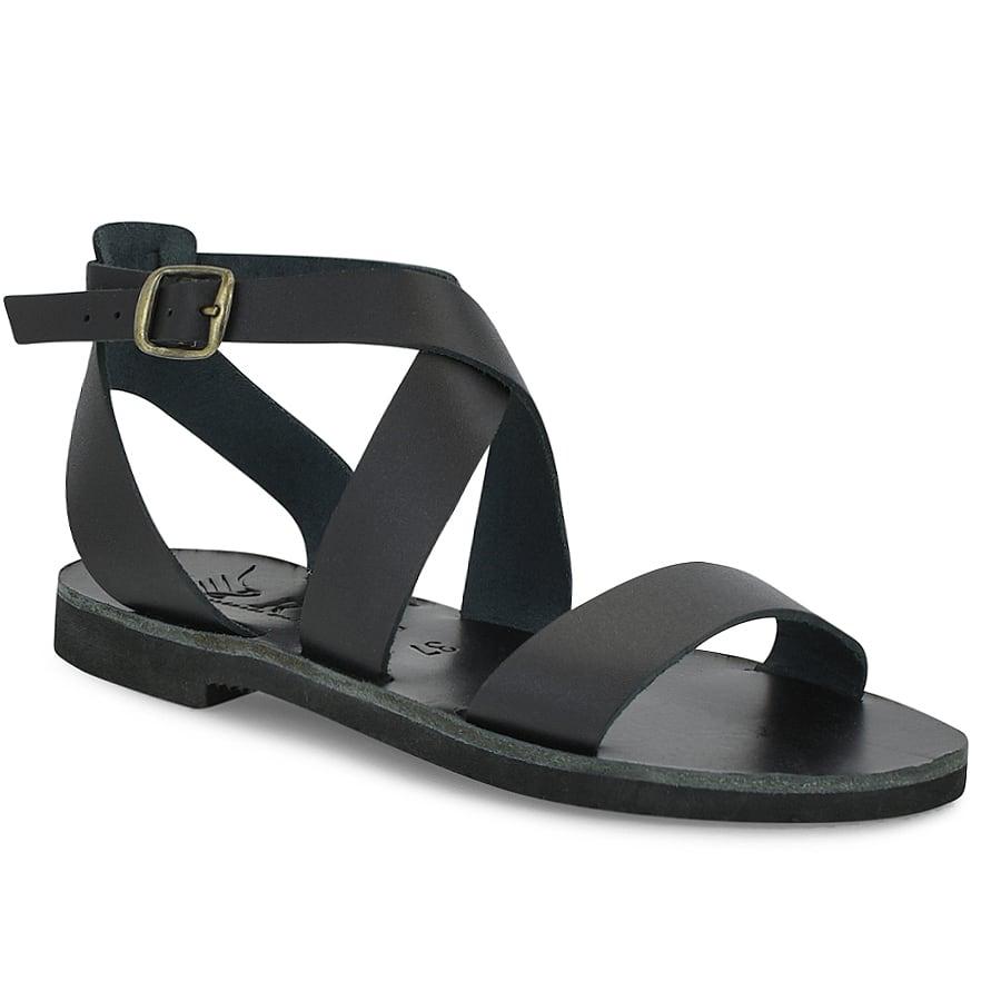 Δερμάτινo μαύρο σανδάλι Iris Sandals IR7/20