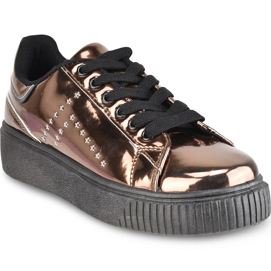 Μπρονζε μεταλλικό sneakers Isteria 7376