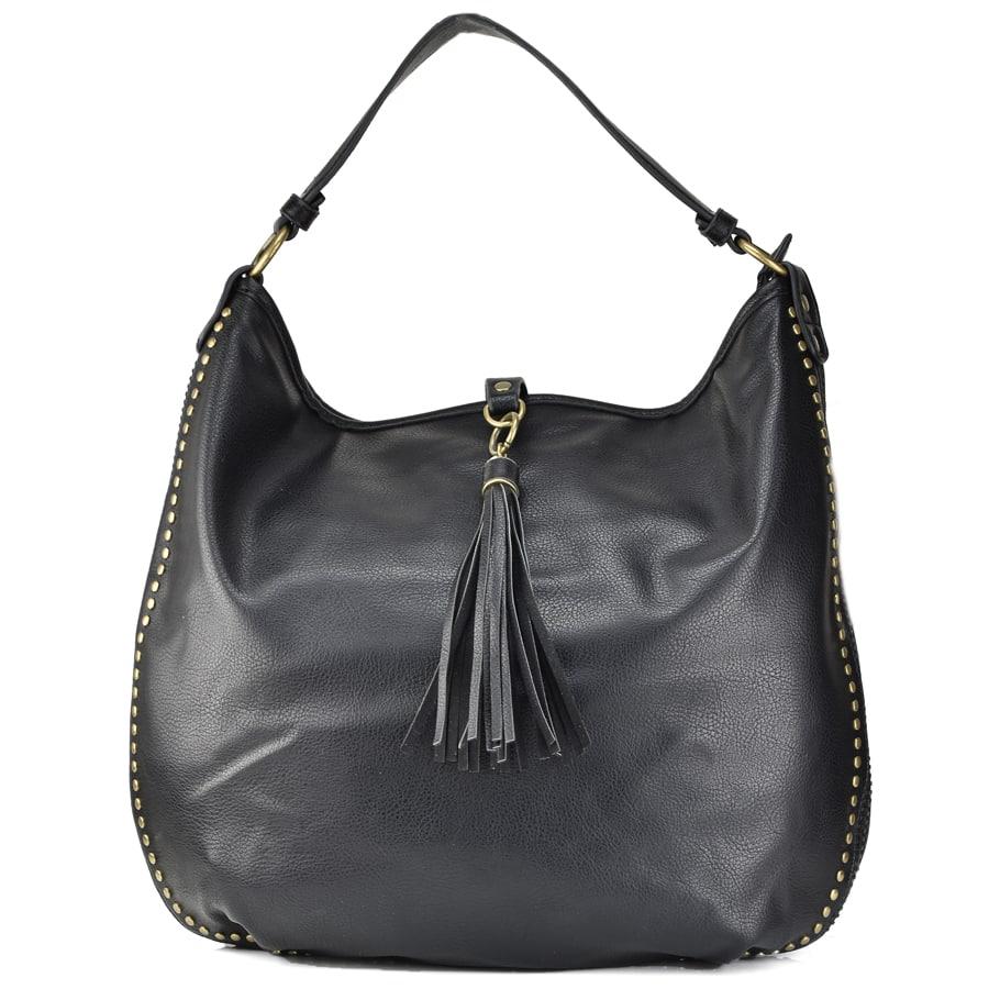 Μαύρη τσάντα ώμου 7535-68