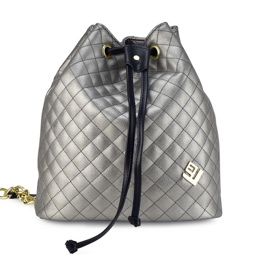 Ατσαλί καπιτονέ τσάντα πουγκί Lovely handmade Hypnotic