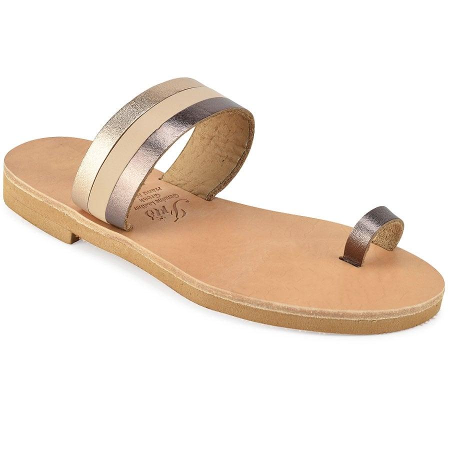 Δερμάτινη μεταλλική σαγιονάρα Iris Sandals IR8/14-6