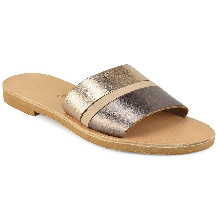 Δερμάτινη μεταλλική σαγιονάρα Iris Sandals IR8/16-6
