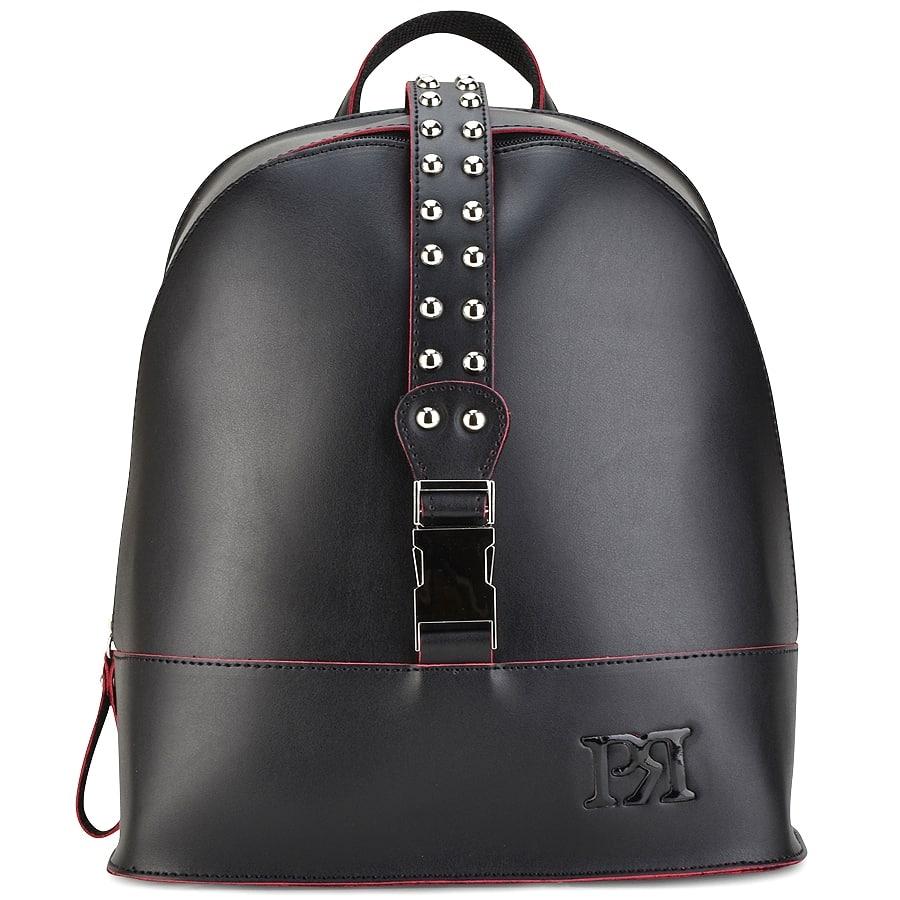 3b11d4dafa Izyshoes Μαύρο eco-leather σακίδιο πλάτης Pierro Accessories 90488