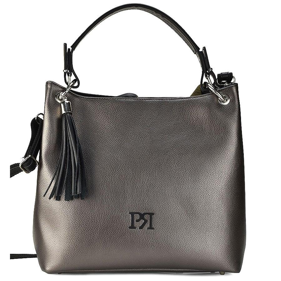 Ατσαλί eco-leather τσάντα ώμου Pierro Accessories 90519