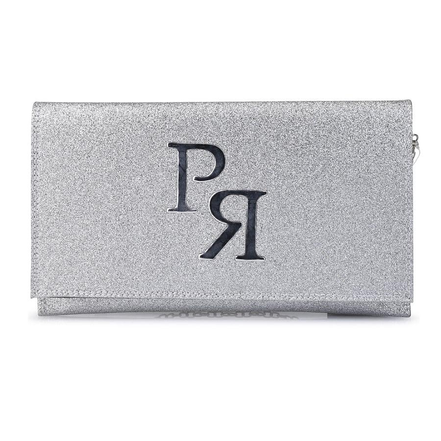 Ασημί eco-leather φάκελος Pierro Accessories 90586