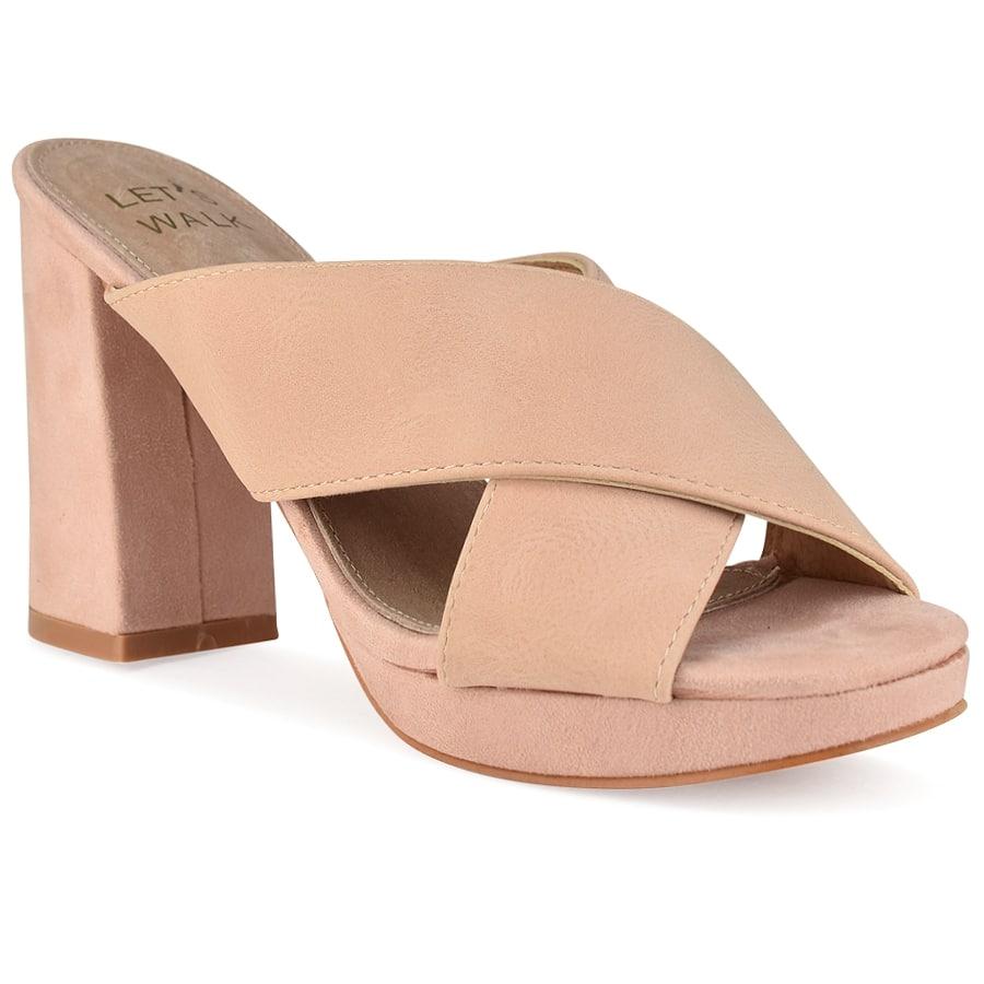 Ροζ χιαστή πέδιλο Let's Walk JN99-15