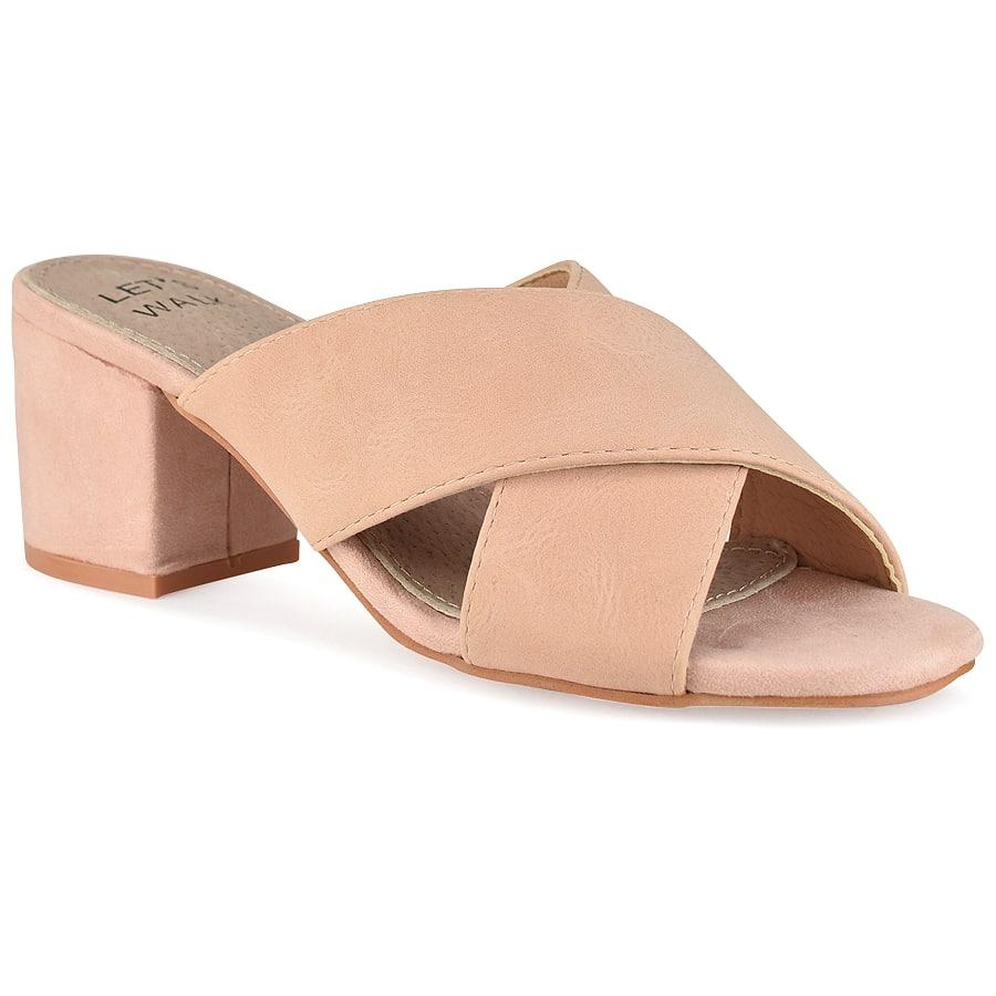 Ροζ χιαστή πέδιλο Let's Walk JN99-18