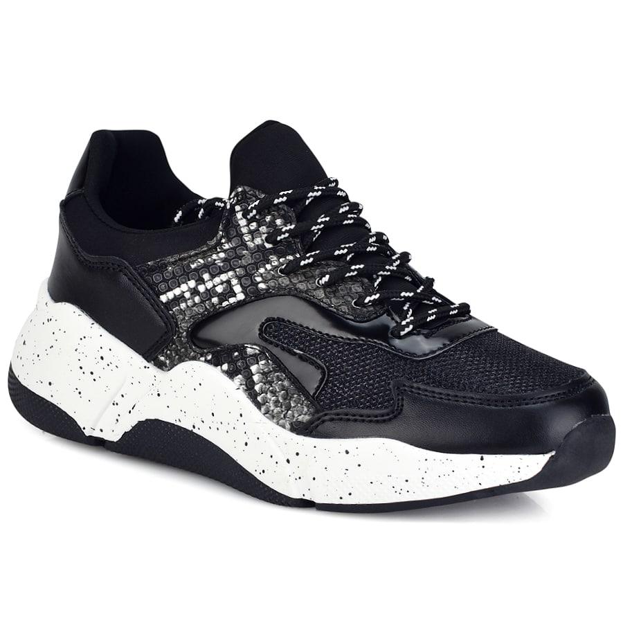 Μαύρο chunky sneaker A0530