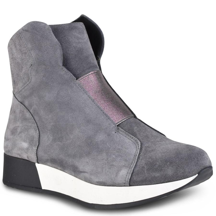 Γκρι δερμάτινα sneakers HiLo A550