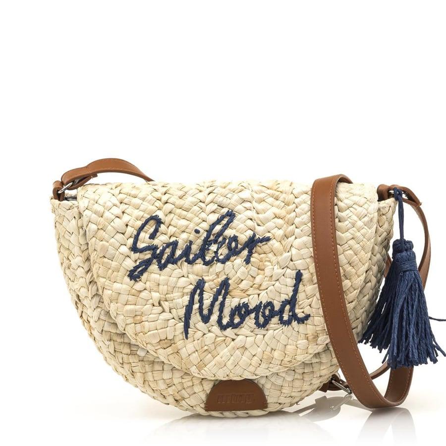 Ψάθινη τσάντα χιαστή MTNG AUTER
