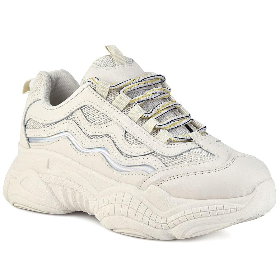 Κρεμ sneaker B615