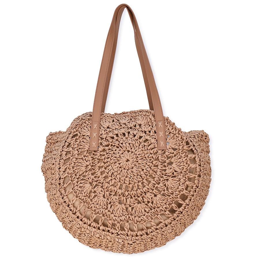 Καμελ ψάθινη τσάντα BJ002