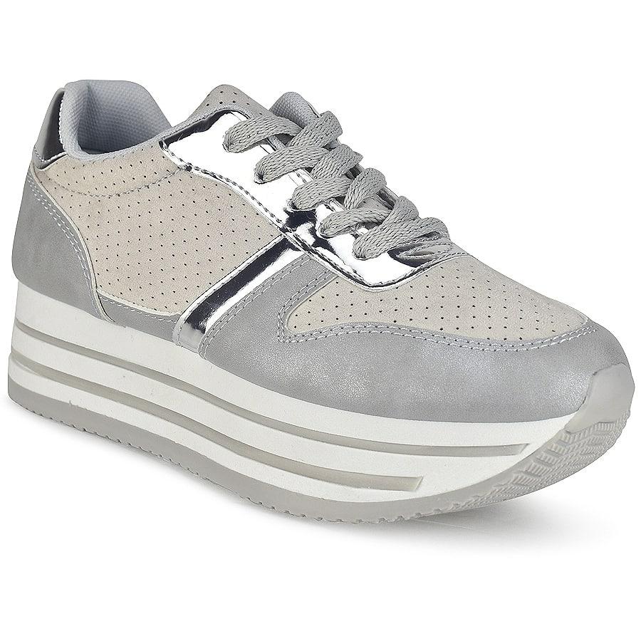 Γκρι δίπατα sneakers BK368