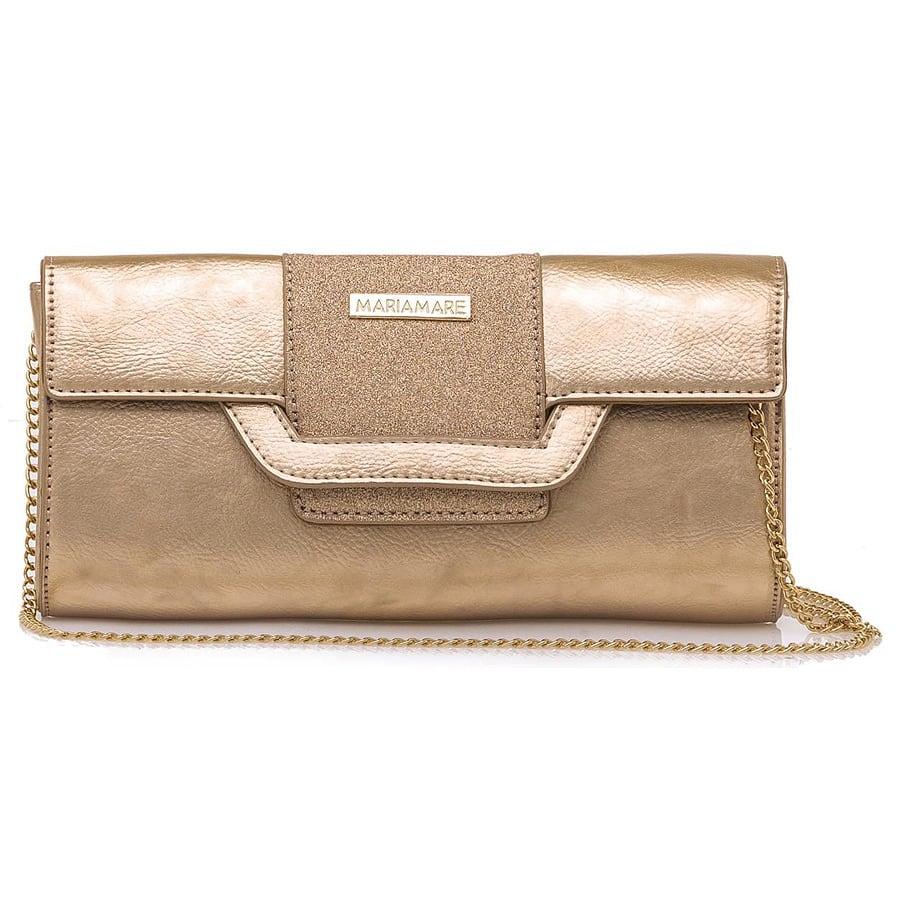 Ροζ χρυσή τσάντα χειρός MariaMare DAINA