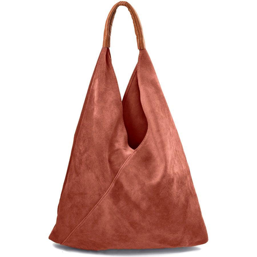 Δερμάτινη κεραμιδί hobo bag Didi