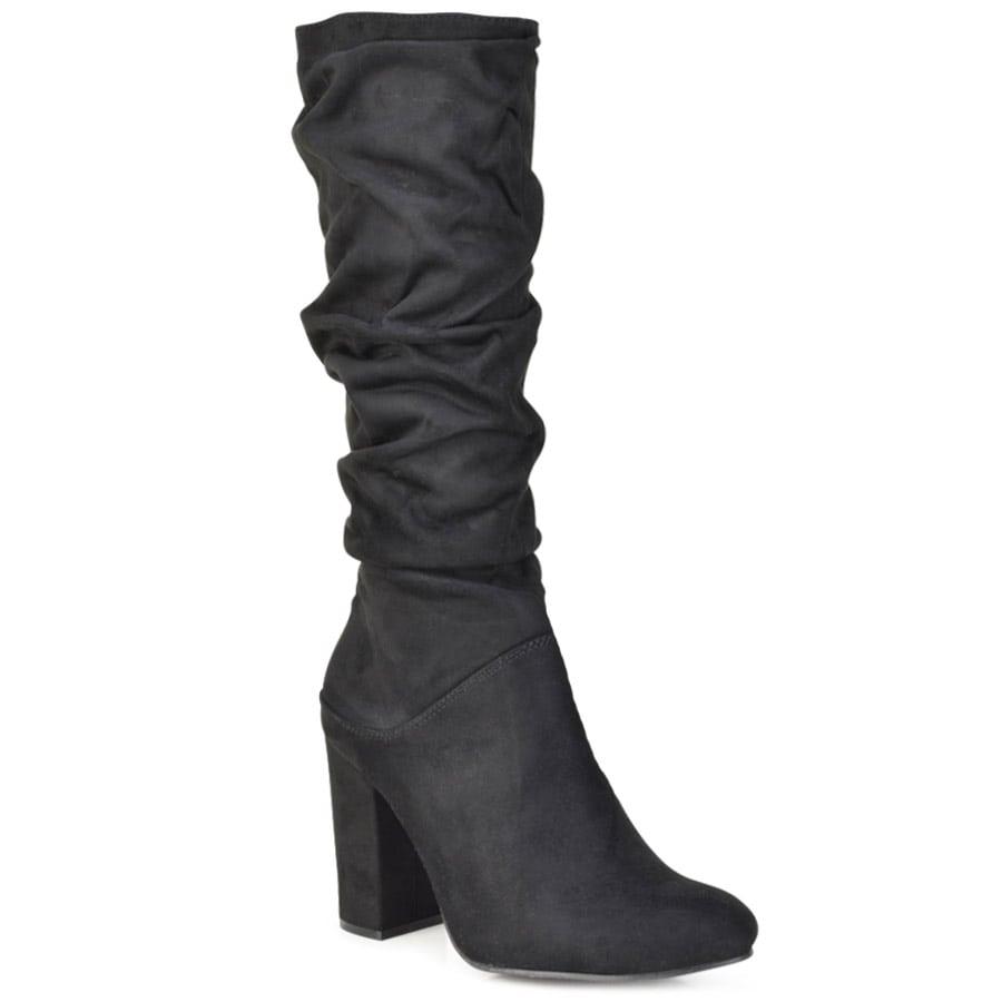 Μαύρη σουέντ μπότα FR1175