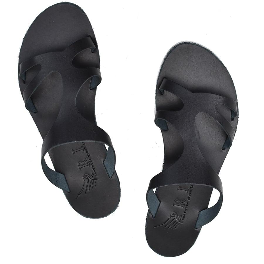 Δερμάτινη μαύρη σαγιονάρα Iris Sandals IR20/2