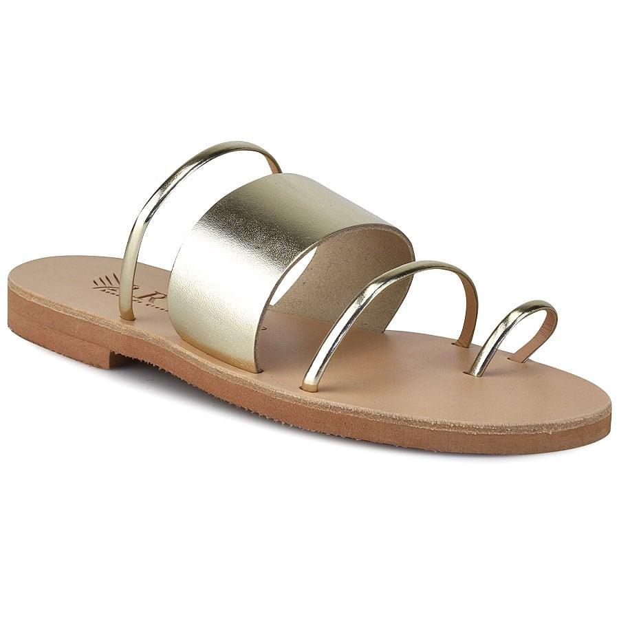 Δερμάτινη χρυσή σαγιονάρα Iris Sandals IR20/28