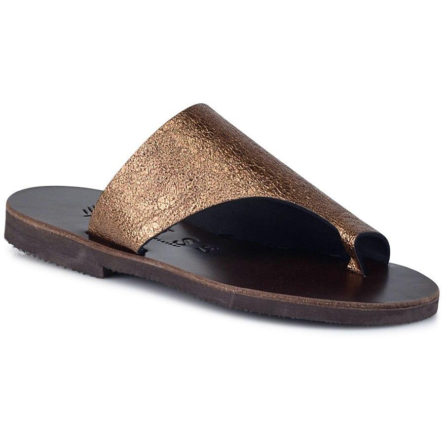 Δερμάτινη μπρονζέ σαγιονάρα Iris Sandals IR20/4
