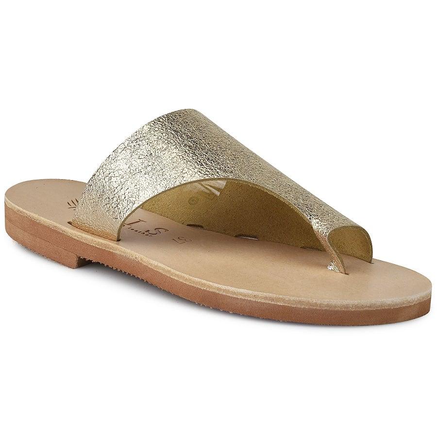 Δερμάτινη χρυσή σαγιονάρα Iris Sandals IR20/4