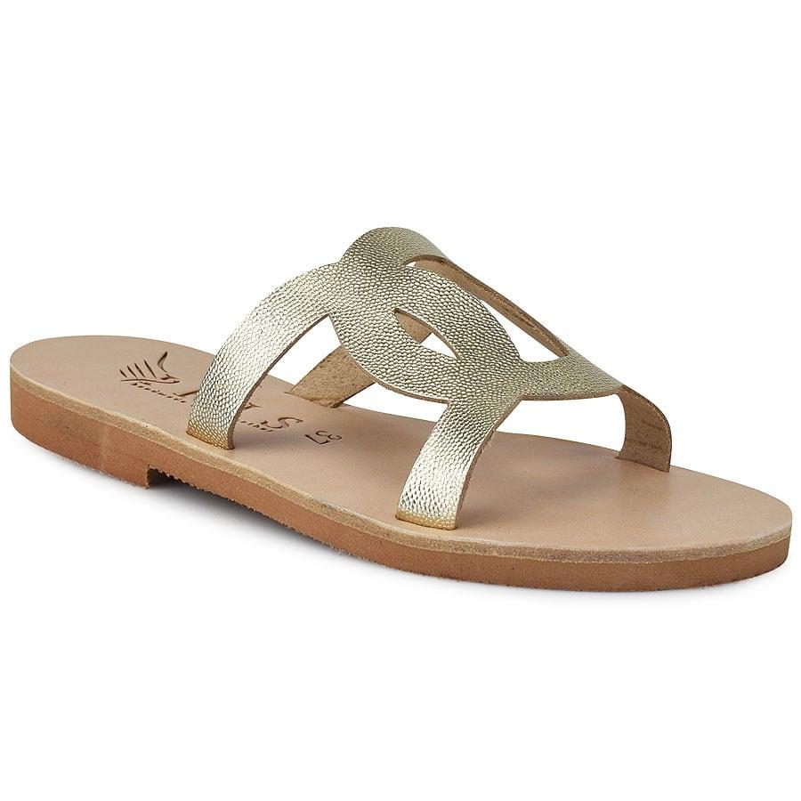 Δερμάτινη χρυσή σαγιονάρα Iris Sandals IR20/8