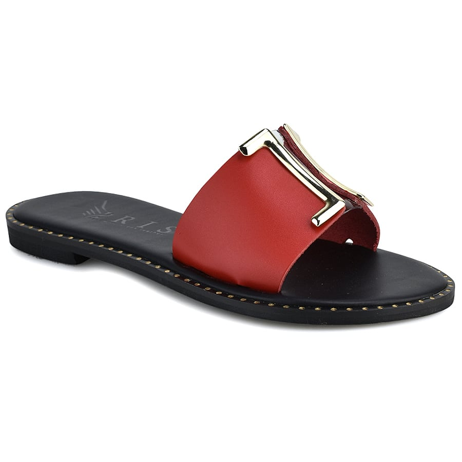 Δερμάτινo κόκκινο σανδάλι Iris Sandals IR201