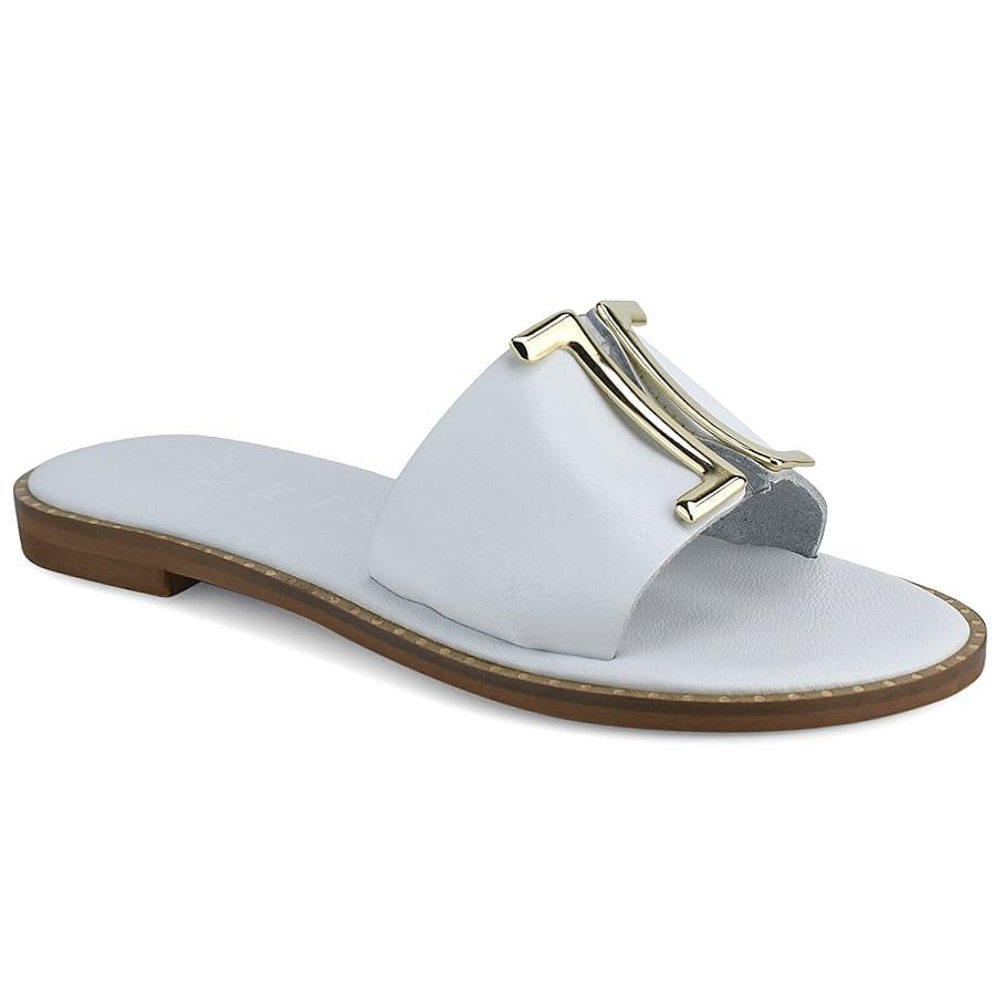 Δερμάτινo λευκό σανδάλι Iris Sandals IR201