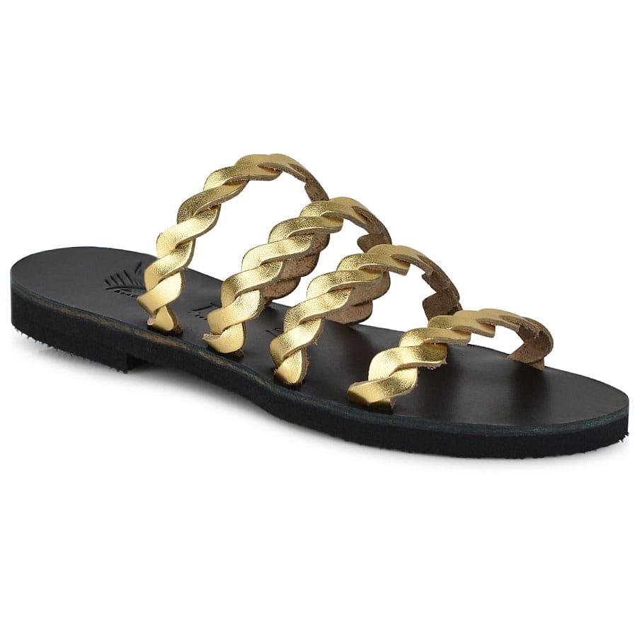 Δερμάτινη χρυσή σαγιονάρα Iris Sandals IR9/25