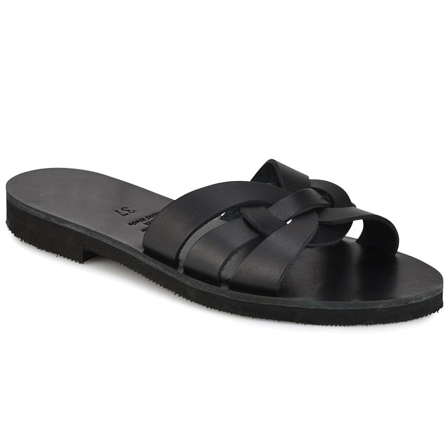 Δερμάτινη μαύρη σαγιονάρα Iris Sandals IR9/3