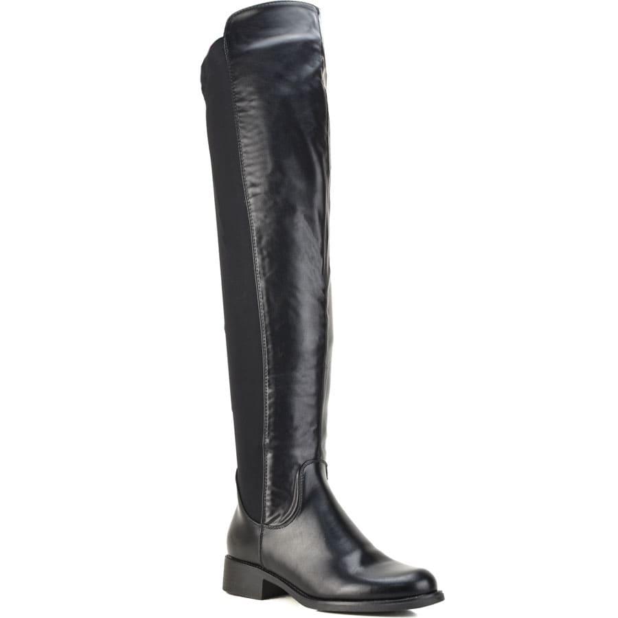Μαύρη μπότα πάνω από το γόνατο JS111