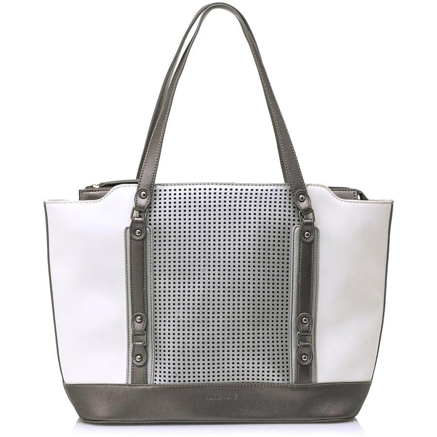 Λευκή τσάντα ώμου MariaMare LANI