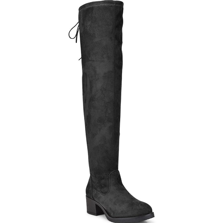 Μαύρη μπότα με τακούνι MAH651