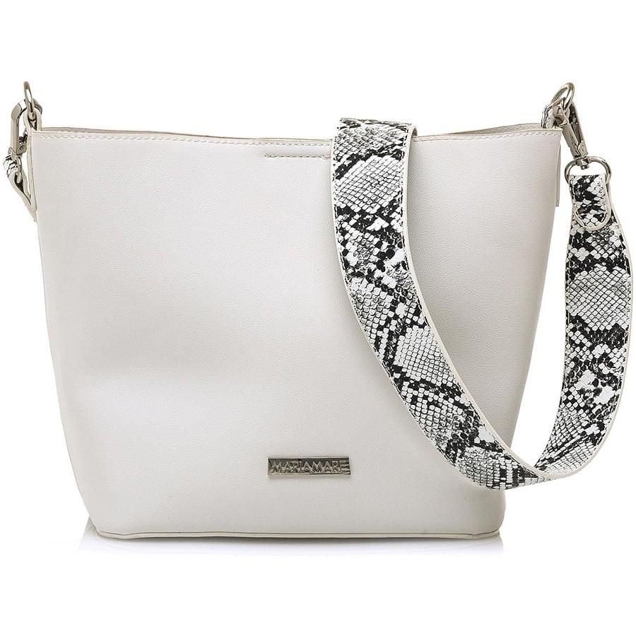 Λευκή τσάντα χιαστη MariaMare NAOKI