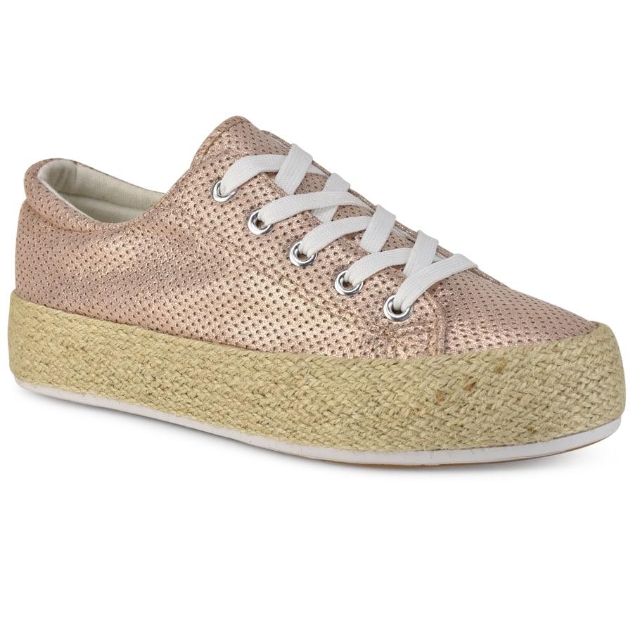Ροζ μεταλλικά sneakers RL32