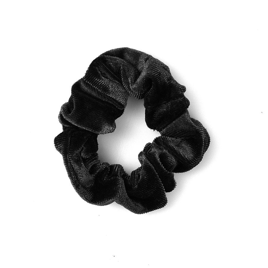 Μαύρο βελουδινο λαστιχάκι SCRUNCHIES