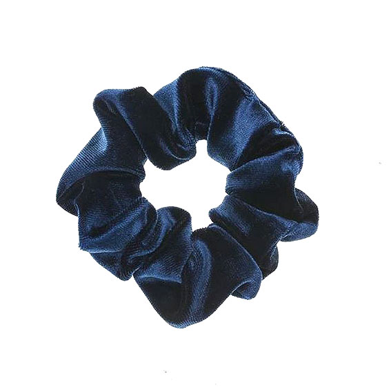 Μπλε βελουδινο λαστιχάκι SCRUNCHIES