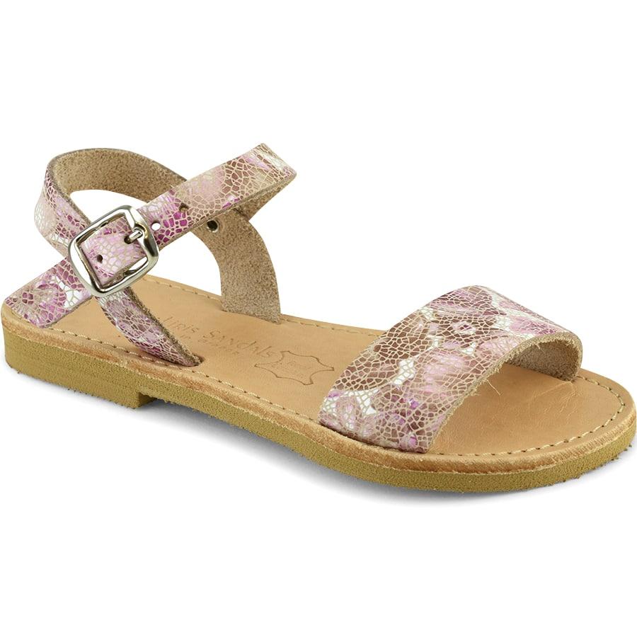 Δερμάτινο ροζ παιδικό σανδάλι Tsakiris Sandals TSP10