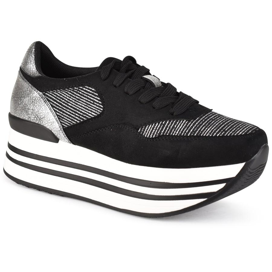 Μαύρα sneakers ZX005A-1